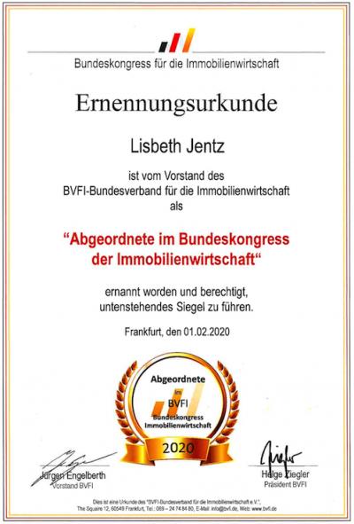 BVFI Urkunde 2020
